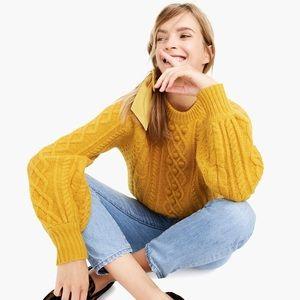 Demy Lee x J crew balloon sleeves sweater